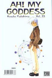 Ah! my goddess t.23 - 4ème de couverture - Format classique