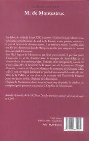 Monsieur De Montestruc - 4ème de couverture - Format classique