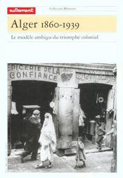 Alger 1860-1939 - Intérieur - Format classique