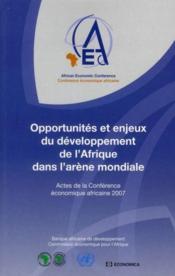 Opportunités et enjeux du développement de l'Afrique dans l'arène mondiale - Couverture - Format classique
