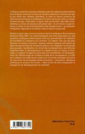 Opportunités et enjeux du développement de l'Afrique dans l'arène mondiale - 4ème de couverture - Format classique