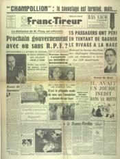 Franc Tireur N°2614 du 24/12/1952 - Couverture - Format classique