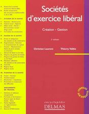 Vente  Societes d'exercice liberal ; sel  - Christian Laurent - Thierry Vallee