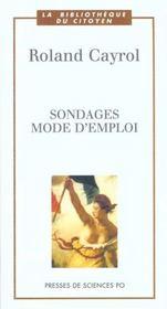 Sondages Mode D Emploi - Intérieur - Format classique
