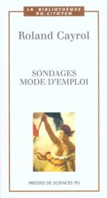 Sondages Mode D Emploi - Couverture - Format classique