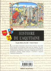 Histoire De L'Aquitaine - 4ème de couverture - Format classique