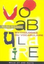 Mythologies du vocabulaire - Intérieur - Format classique