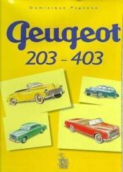 Peugeot 203/403 - Couverture - Format classique