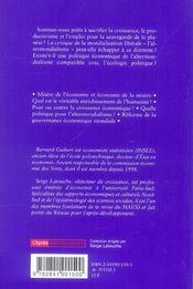 Antiproductivisme Altermondialisme Decroissance - 4ème de couverture - Format classique
