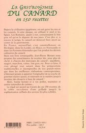 Gastronomie Du Canard - 4ème de couverture - Format classique