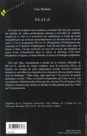 P.E.A.C.E - 4ème de couverture - Format classique