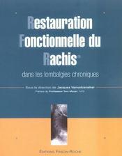Restauration Fonctionnelle Du Rachis Dans Les Lombalgies Chroniques - Intérieur - Format classique