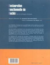 Restauration Fonctionnelle Du Rachis Dans Les Lombalgies Chroniques - 4ème de couverture - Format classique