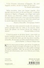 Thagaste ; saint augustin en algérie - 4ème de couverture - Format classique