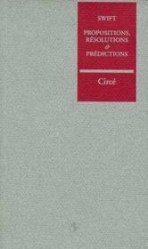 Propositions, Resolutions - Couverture - Format classique