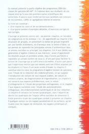 Manuel De Mathematiques Volume 4 Algebre Et Geometrie 2e Annee De Prepas Scientifiques Mp-Mp* - 4ème de couverture - Format classique