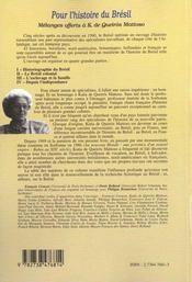 Pour L'Histoire Du Bresil - 4ème de couverture - Format classique