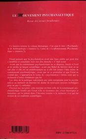 Le Mouvement Psychanalytique T.2 - 4ème de couverture - Format classique