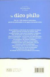 Le Dico Philo - 4ème de couverture - Format classique