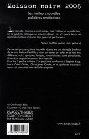 Moisson noire 2006 - 4ème de couverture - Format classique