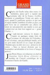 De Gaulle ; la France à vif - 4ème de couverture - Format classique