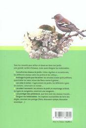 Un Jardin Pour Les Oiseaux - 4ème de couverture - Format classique
