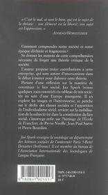 Pour Une Theorie Critique De La Societe - 4ème de couverture - Format classique