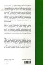 Esthétique et espace public - 4ème de couverture - Format classique