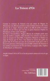 Toison D Or (La) - 4ème de couverture - Format classique