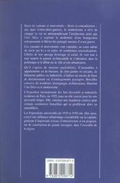 Modernisme art deco ; region de bruxelles-capitale - 4ème de couverture - Format classique