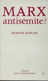 Marx antisemite - Couverture - Format classique