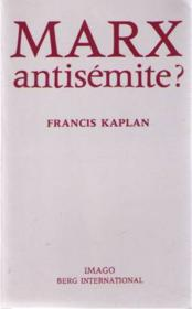 Marx antisemite ? - Couverture - Format classique