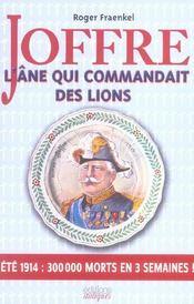 Joffre,L'Ane Qui Commandait Des Lions - Intérieur - Format classique