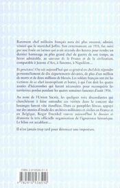 Joffre,L'Ane Qui Commandait Des Lions - 4ème de couverture - Format classique