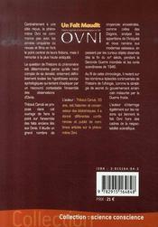 Un fait maudit ; histoire originale et phénoménologique du fait ovni - 4ème de couverture - Format classique