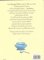 Sauvage et bon ; 139 recettes de cuisine a base de plantes sauvages - 4ème de couverture - Format classique