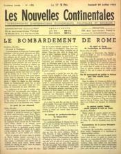 Nouvelles Continentales (Les) N°123 du 24/07/1943 - Couverture - Format classique