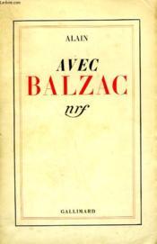 Avec Balzac. - Couverture - Format classique