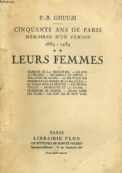 Cinquante Ans De Paris - Memoire D'Un Temoin 1889-1939 - Tome 2 - Leurs Femmes - Couverture - Format classique
