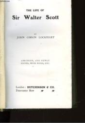 The Life Of Sir Walter Scott - Couverture - Format classique