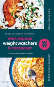 Vente livre :  Mes menus weight watchers  - Collectif