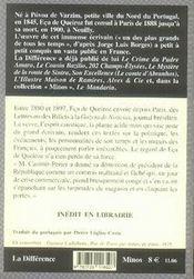 Lettres de paris - 4ème de couverture - Format classique