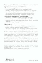 Genie Electrique Cours Complet Illustre Iut Bts Cpge (Tsi Et Ats) Electronique Du Signal Automatique - 4ème de couverture - Format classique
