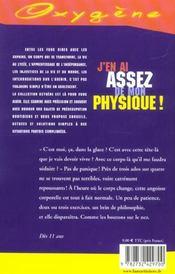 J'En Ai Assez De Mon Physique ! - 4ème de couverture - Format classique