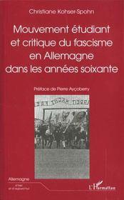Mouvement Etudiant Et Critique Du Fascisme En Allemagne Dans Les Annees Soixante - Intérieur - Format classique