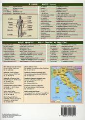 Petit Guide T.106 ; L'Italien T.2 ; La Conversation - 4ème de couverture - Format classique