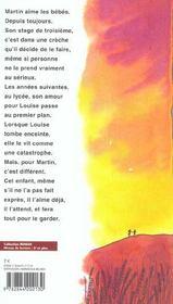 Le garçon qui aimait les bébés. roman - 4ème de couverture - Format classique