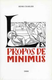 Propos de minimus t.1 - Couverture - Format classique
