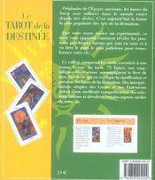 Coffret Tarot De La Destinee - 4ème de couverture - Format classique