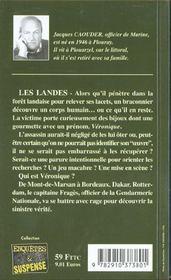 L'occise des landes - 4ème de couverture - Format classique
